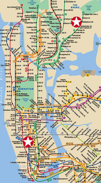 Subway Map Of The Bronx.Steven Emerson